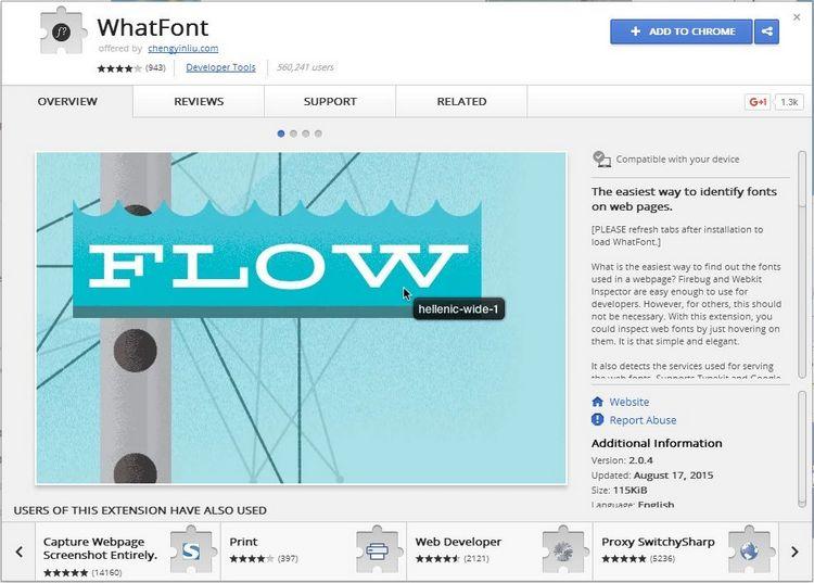 WebInter-WhatFont-AddonPage