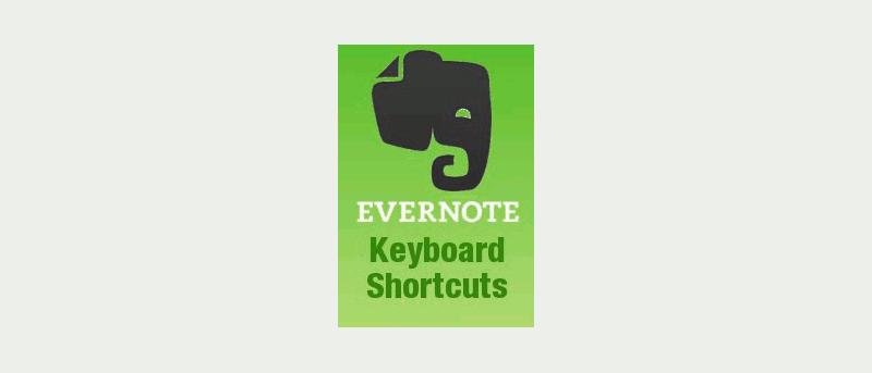 Evernote Keyboard Shortcuts Cheatsheet - Make Tech Easier