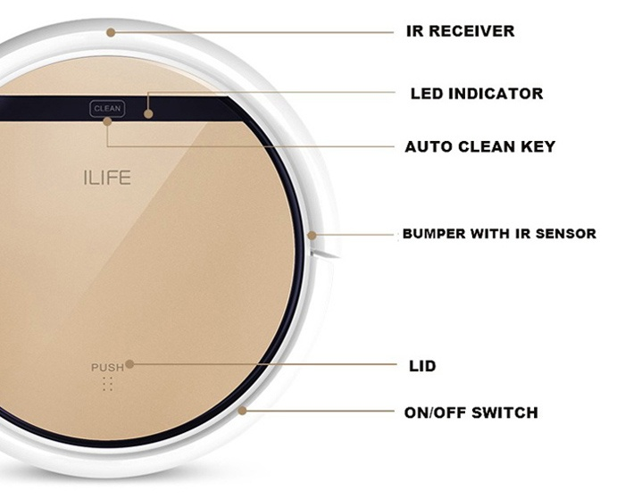 Ilife V5 Pro Intelligent Robotic Vacuum Cleaner Review