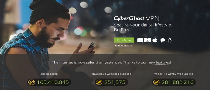 Save 80% on 3-Year CyberGhost VPN Premium Subscription