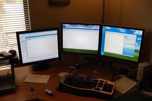 three-monitors