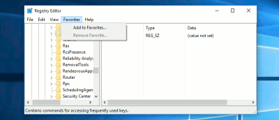Bookmark Windows Registry Locations to Easily Access Them Later