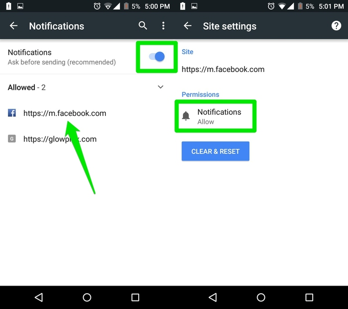 Disable-Chrome-Notifications-Notifcations-on-Android
