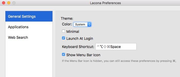 Lacona -mte- Preferences General