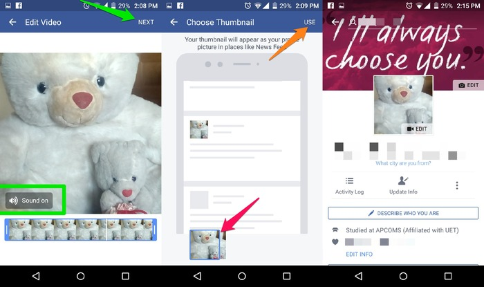 Set-Video-As-Facebook-Profile-Picture-Configure