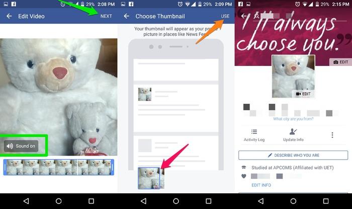 Set-Video-As-Facebook-Profile-Picture-Configure