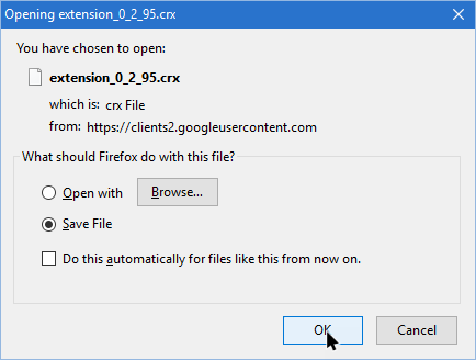 Download and Save a Chrome Extension as a CRX File