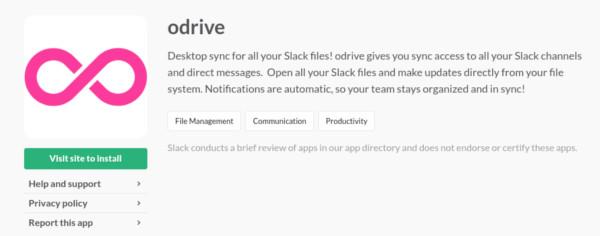 slack-file-management-odrive-app-page