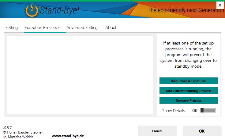 standbye-processes