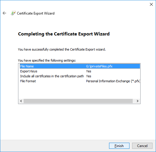 win-efs-review-export-settings