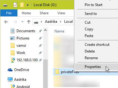 win-efs-select-folder-properties