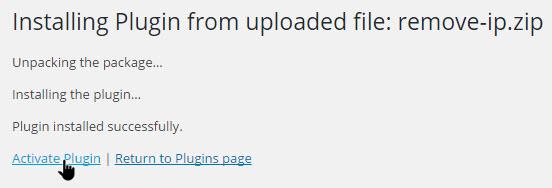 wp-remove-comment-ip-address-activate-plugin