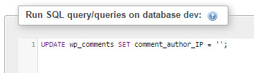 wp-remove-comment-ip-address-execute-query
