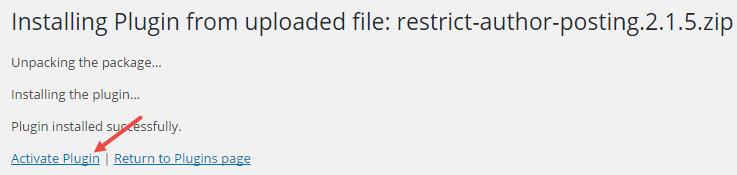 wp-restrict-authors-RAP-activate-plugin