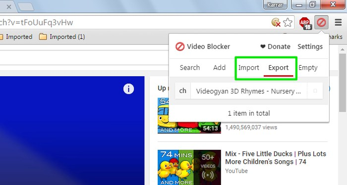 Block-Youtube-Channels-Import-export