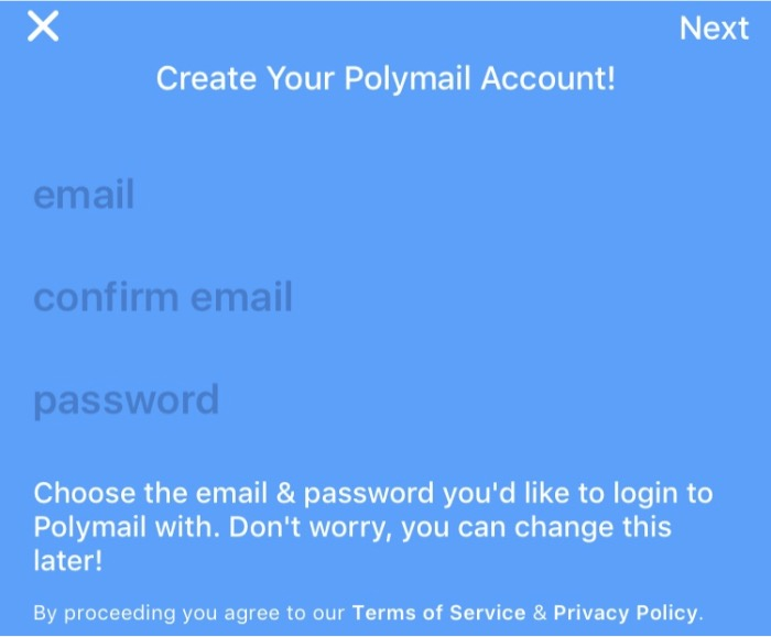 Polymail Register