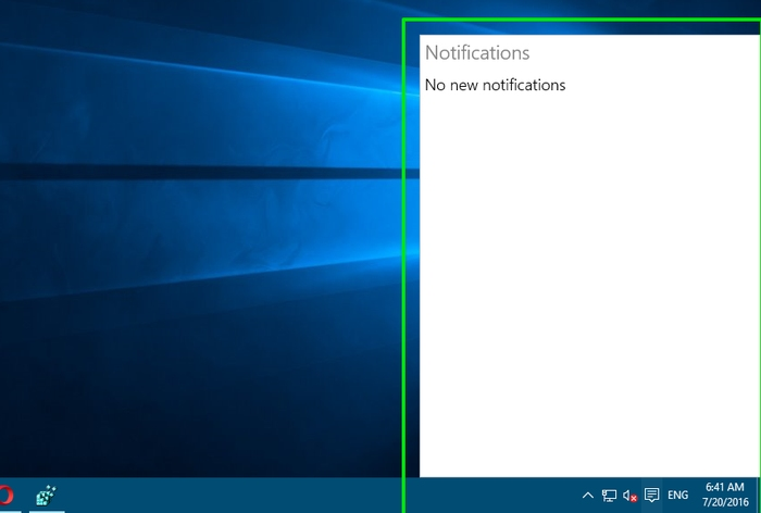 notification disabled key for activation in registry