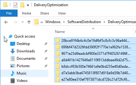 fix windows update delivery optimization folder