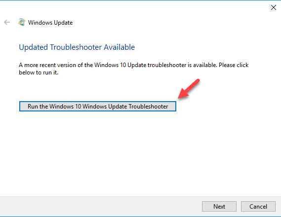 fix windows update run troubleshooter