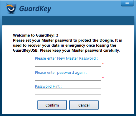 Set a Master password to lock and unlock encrypted drives.