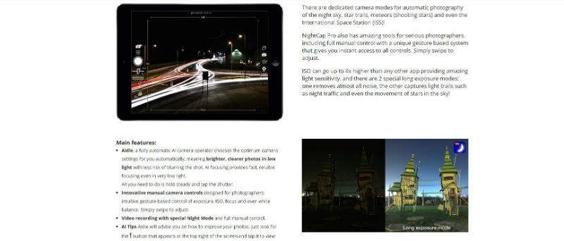 iPhone photo apps - NightCap Pro desktop screenshot