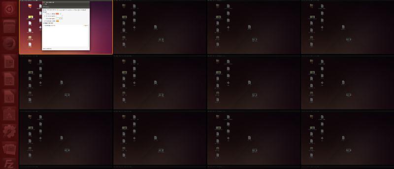 ubuntu workspaces different