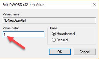 win10-turn-off-new-app-installed-notification-enter-value-data