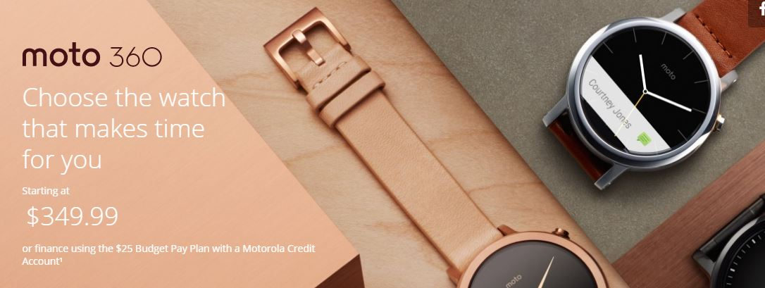 Fashionable wearble tech - Moto 360 Smartwatch