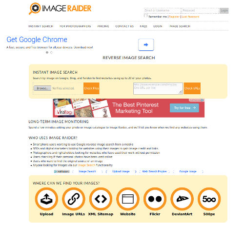 Reverse_Image_Search_Engines - 03 - Image Raider