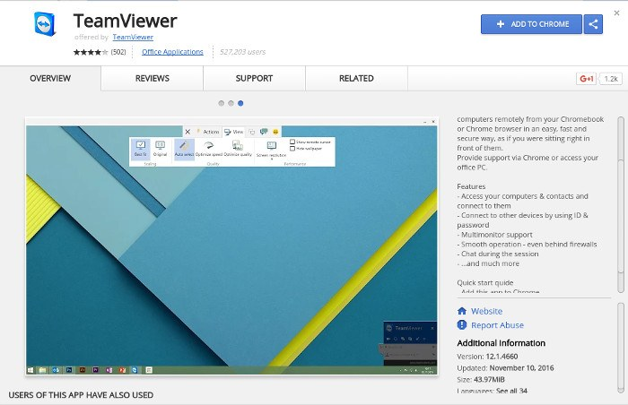 chrome-remote-teamviewer