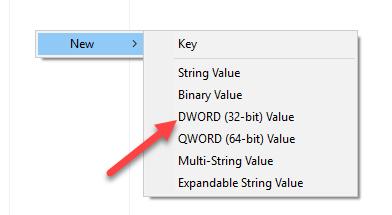 disable cortana win10 new dword value