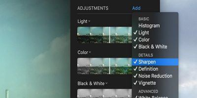 How to Enable Extra Adjustment Settings in Photos For Mac
