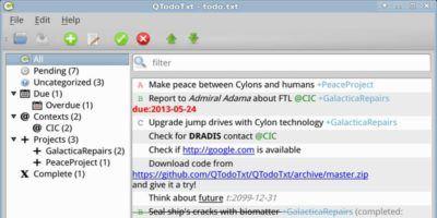 QTodoTxt – A todo.txt GUI Client for Linux