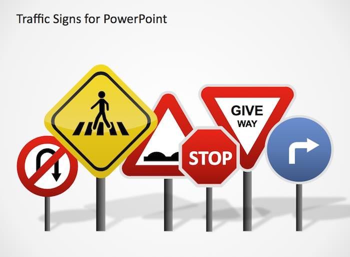 slidemodel-review-road-signs