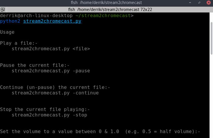 stream2chromecast-command-listing