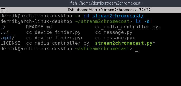stream2chromecast-directory-listing