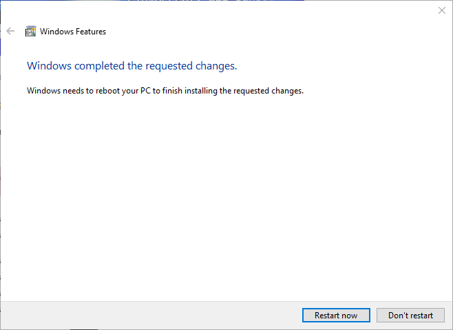 win10 hyper-v restart windows