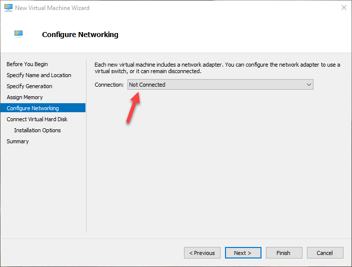 win10 hyper-v select network