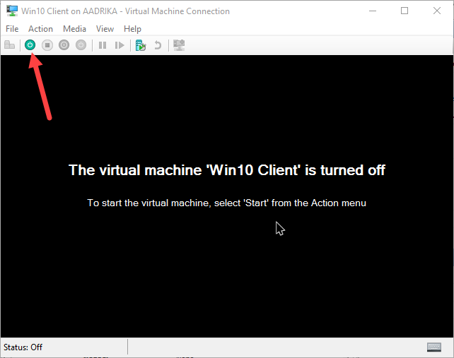 win10 hyper-v virtual machine connected