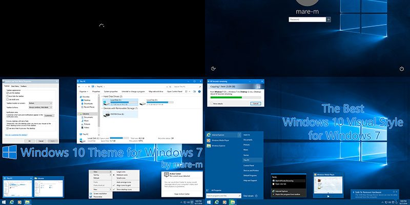 Get and Install Windows 10 Theme for Windows 7 - Make Tech