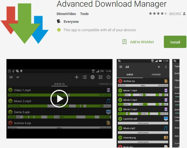 android-advanced-download-manager