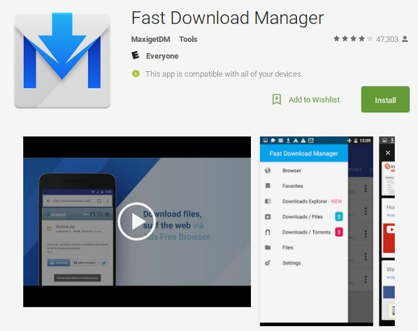android-fast-download-manager