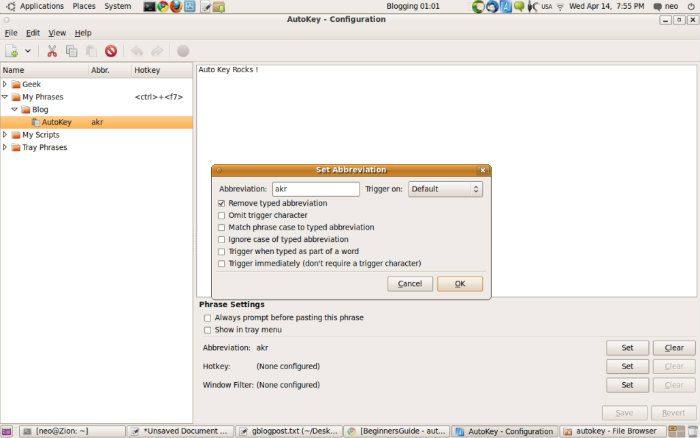 autokey-configure