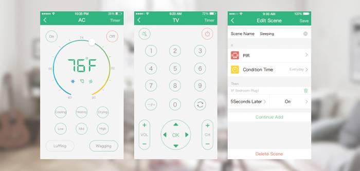Orvibo Smart Home Kit mobile app controller.