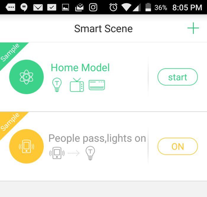Orvibo Smart Home Kit smart scenes.
