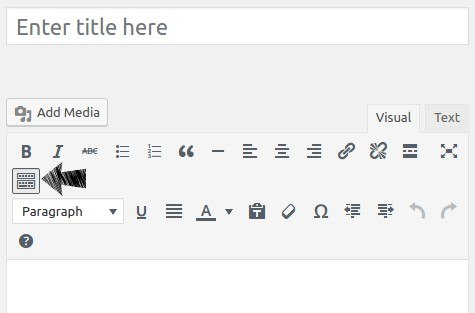 WordPress editor Toolbar Toggle.