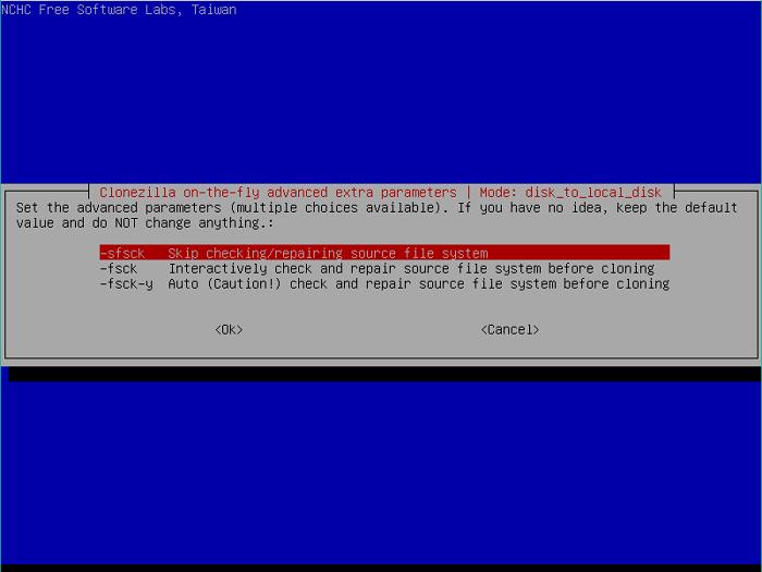 clonezilla-skip-filesystem-check