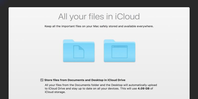 fixing problems with icloud desktop and documents syncing in macos