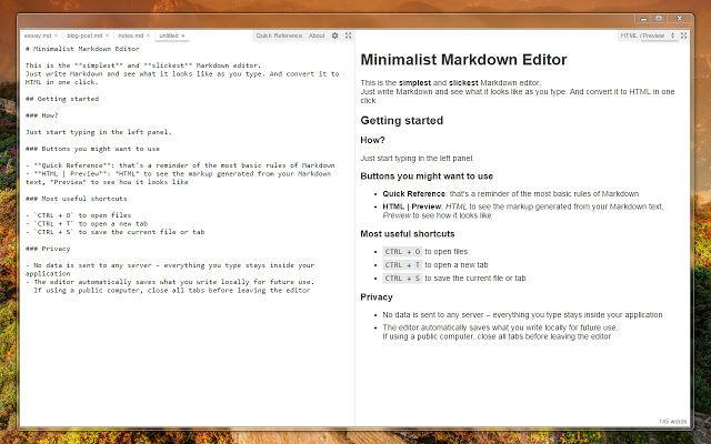 minimalist-markdown-editor
