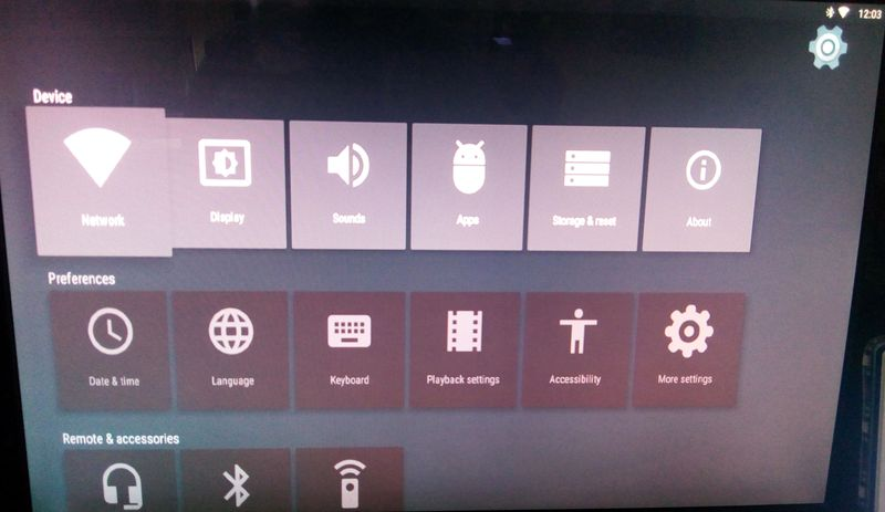Probox2 Air default Settings menu.